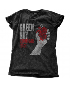 GREEN DAY - American Idiot Vintage Snow Wash / Girlie Shirt