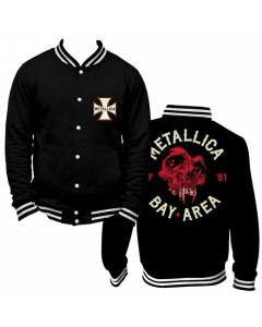 Metallica Bay Area college jacket front and back