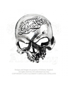 ALCHEMY ENGLAND - Nevermore Skull / Pewter Buckle