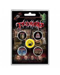 TANKARD - One Foot In The Grave / Button Badge Pack