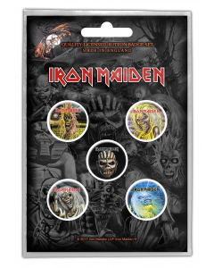 IRON MAIDEN - The Faces Of Eddie / Button Badge Pack