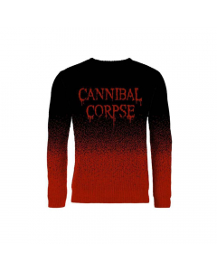 cannibal corpse dripping logo knitted jumper