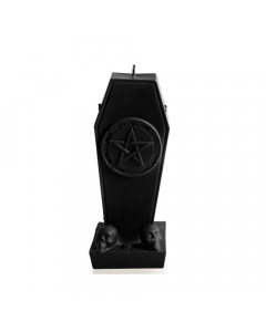 CANDLES - Coffin With Pentagram / Candle - Black Matt