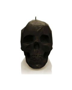 CANDLES - Large Low Poly Skull / Candle - Black