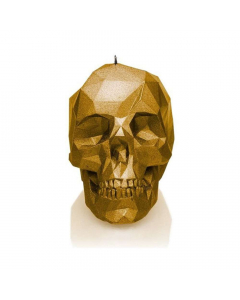 CANDLES - Large Low Poly Skull / Candle - Gold