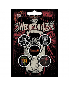 53726 wednesday 13 condolences button badge pack