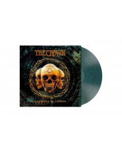 THE CROWN - Crowned In Terror / CLEAR TEAL Marbled LP