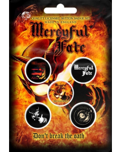 mercyful fate dont break the goat button badge pack