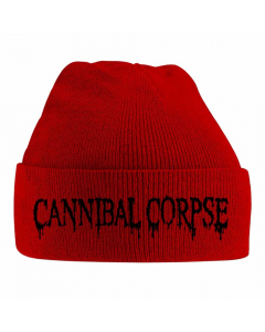 cannibal corpse logo red beanie