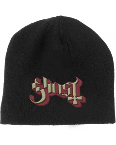 ghost embroided logo beanie