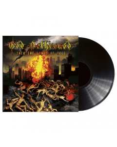 god dethroned into the lungs of hell black lp