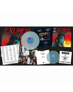 """exumer possessed by fire electric blue lp 7"""" single"""