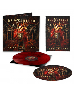 Leave A Scar - Dee Hard Edition: RED BLACK Marbled + Album Art Patch + Slipmat
