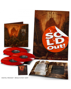 """Where Fear and Weapons Meet - Die Hard Edition: RED BLACK Marbled 2- Vinyl + 12"""" Bonus LP + Poster + Patch"""