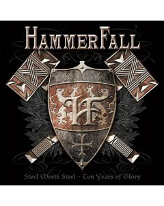 12459 hammerfall steel meets steel - ten years of glory 2-cd heavy metal