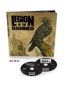 18562-1 legion of the damned ravenous plague earbook cd + dvd thrash metal