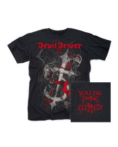 22036-1 devildriver you're f---ing gutted t-shirt