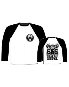 27656-1 aborted 666 death metal baseball shirt