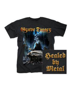 grave digger healed by metal shirt