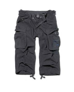 BRANDIT - Industry Vintage 3/4 Shorts / BLACK