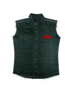 32691-1 slipknot 9 pointed star sleeveless work shirt
