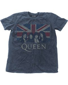 QUEEN - Vintage Union Jack Washed / T-Shirt