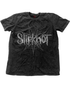 33759 slipknot logo star vintage snow wash t-shirt