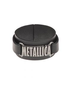 ALCHEMY ROCKS - METALLICA - Logo / Leather Wriststraps