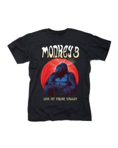 43957 monkey 3 live at freak valley t-shirt