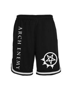 arch enemy pentagram mesh shorts