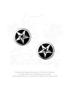 ALCHEMY ENGLAND - Pentanoir - Stude / Earrings