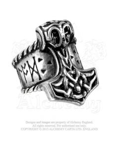 ALCHEMY ENGLAND - Thor's Runehammer / Pewter Ring