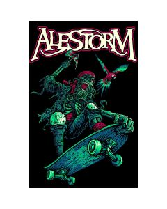 alestorm pirate pizza party flag