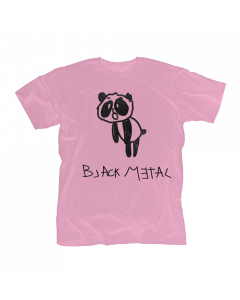 HEAVY METAL HAPPINESS - Black Metal Panda / PINK Girlie Shirt