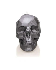 CANDLES - Large Low Poly Skull / Candle - Steel