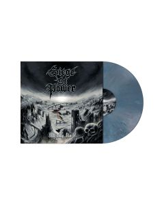 SIEGE OF POWER - Warning Blast / SLATE BLUE Marbled LP