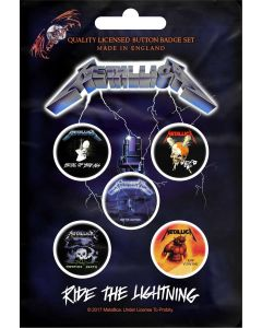 METALLICA - Ride The Lightning / Button Badge Pack