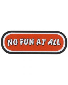 no fun at all logo patch