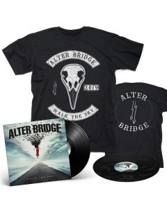"ALTER BRIDGE - Walk the Sky / BLACK 2-LP Gatefold + ""RavenSkull"" T- Shirt Bundle"