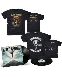 57200 alter bridge walk the sky black 2-lp + 2-t shirt bundle alternative metal