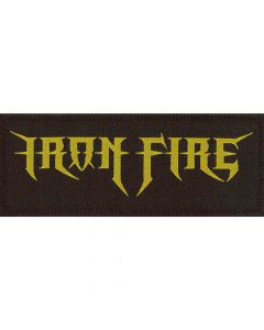 iron fire logo patch