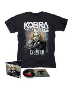 kobra and the lotus evolution digipak cd t shirt bundle
