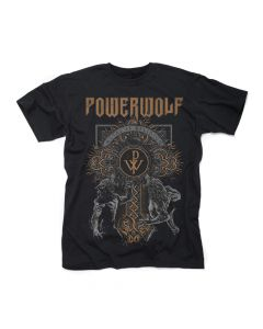 powerwolf - wolf cross - t-shirt
