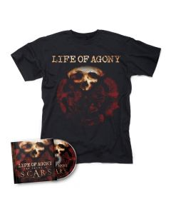life of agony the sound of scars cd t shirt bundle
