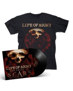 57849 life of agony the sound of scars black lp + t-shirt bundle crossover groove metal