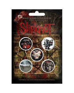 slipknot albums button badge pack