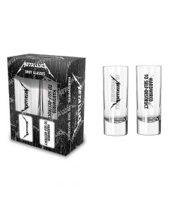 metallica hardwired shot glass