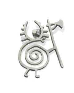 heilung warrior snail metal pin