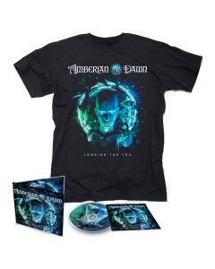 59034 amberian dawn looking for you digipak cd + t-shirt bundle gothic metal symphonic metal