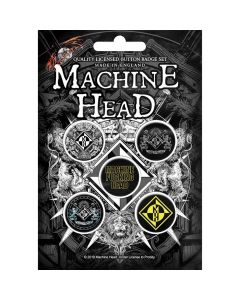 machine head crest button set
